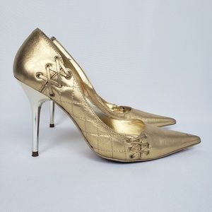 Aldo Gold Pointed Toe, Size 7